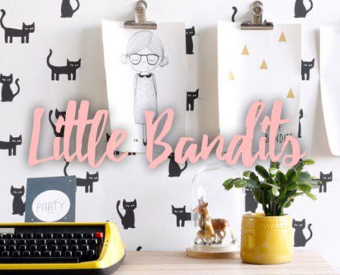 Behang Little Bandits blog