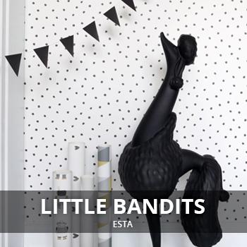 Behang van Little Bandits bij nubehangen